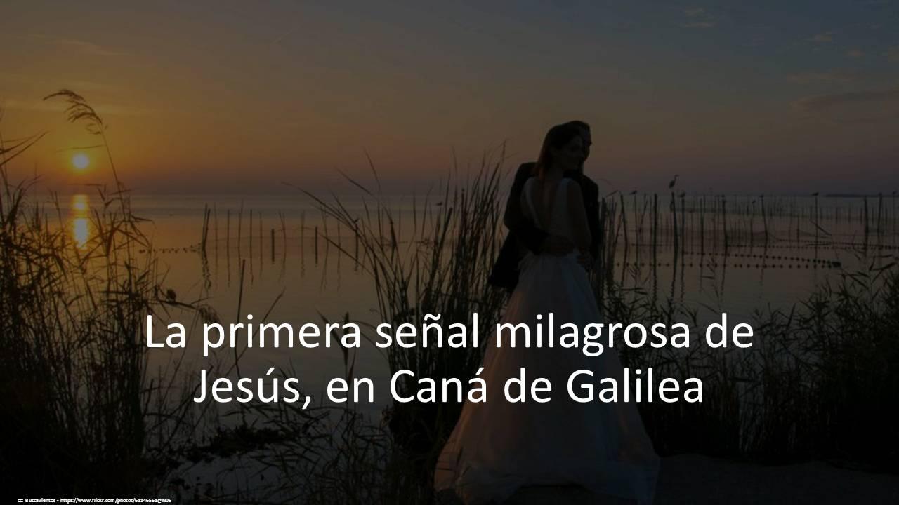 Primer milagro cana galilea