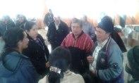 Delegados de la Nación Q'anjob'al hablando con Alcaldes indígenas de Jolom konob'.