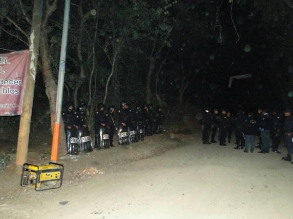 Foto: Resistencia pacífica La Puya.
