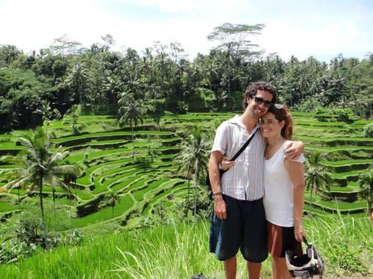 la isla con Toni y Joaquina