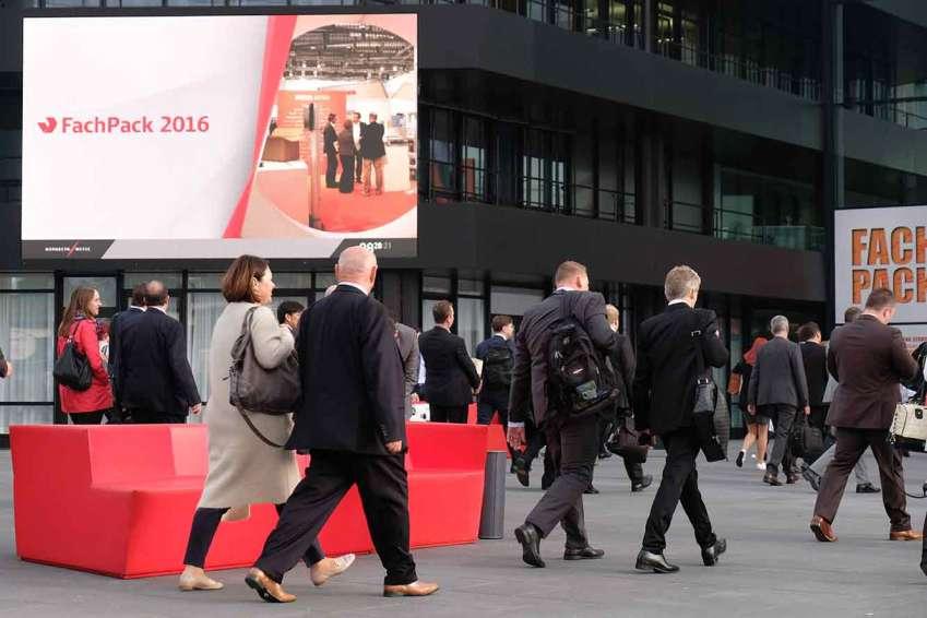 Einlass, Besucherstrom zur FachPack 2016