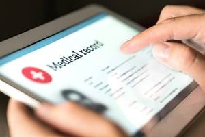 A person accessing their loved one's medical records