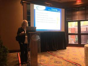 Melissa Negrin-Wiener presenting at the 2nd Annual Collaborate with Edge Leadership Conference