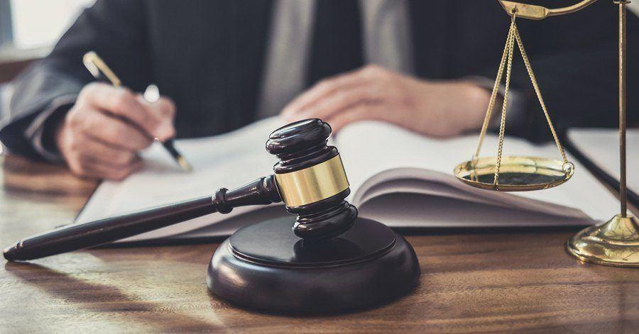 An elder law attorney working at his desk