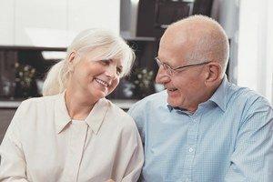 A happy elderly couple celebrating National Senior Citizens Day