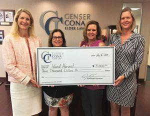 Cona Elder Law raises $3000 for Island Harvest