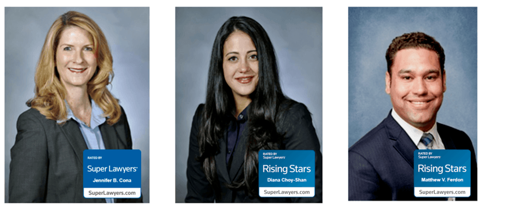 Three Cona Elder Law Attorneys who were selected as New York Metro Super Lawyers