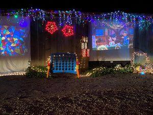 A winter wonderland display at the ELIJA Farm
