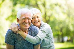 A happy elderly couple