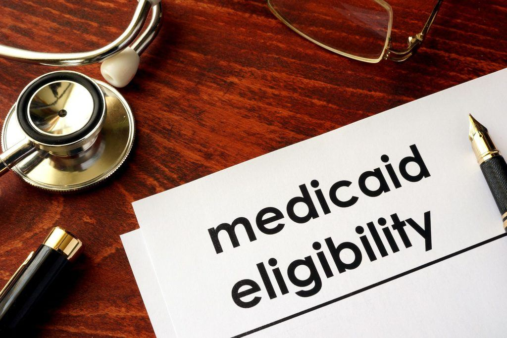A piece of paper that says medicaid eligibility.