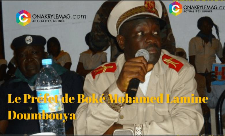 le préfet de Boké Mohamed Lamine Doumbouya