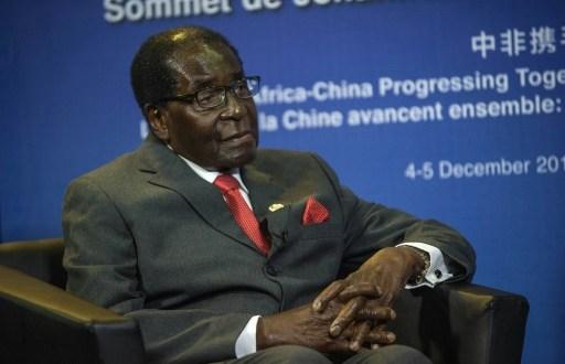 Le président du Zimbabwe, Robert Mugabe, lors d'un forum sur la coopération entre la Chine et l'Afrique, le 5 décembre 2015 à Johannesburg, en Afrique du Sud   AFP/Archives   MUJAHID SAFODIEN