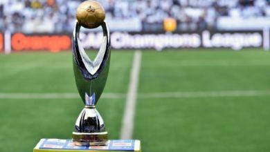 Le trophée du la Ligue des champions d'Afrique, le 8 novembre 2015 à Lubumbashi avant le match TP Mazembe - USM Alger   AFP/Archives   JUNIOR KANNAH