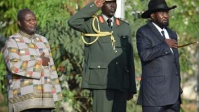 Riek Machar et Salva Kiir le 26 avril 2016 à Juba | AFP/Archives | SAMIR BOL