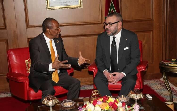 Alpha Condé et le roi Mohamed VI