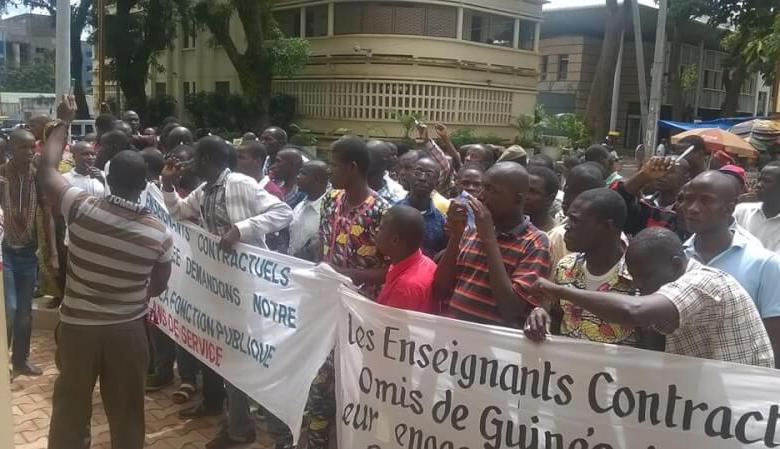 Manifestation d'enseignants contractuels guinéens