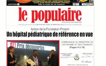 Le Populaire n°557 du lundi 10 avril 2017 EDITION INTERNATIONALE