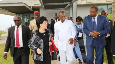 De gauche à droite, la DG de l'OMS, le Président Condé et le ministre de la Santé