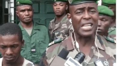 porte parole de la gendarmerie nationale, M. Mamadou Alpha Barry