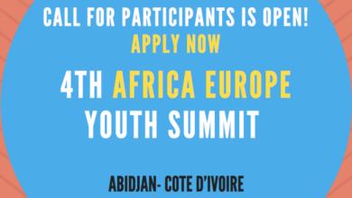 Si vous vous êtes intéressés à prendre part au 4ème sommet de la jeunesse Afrique - Europe qui se tiendra du 9 au 11 octobre 2017 à Abidjan