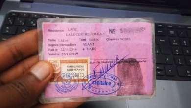 carte d'identité Guinee