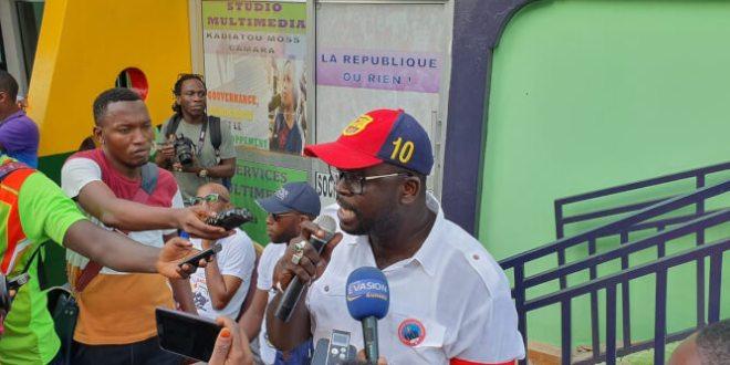Lansana Diawara, coordinateur de la MAOG et des Brassards rouges