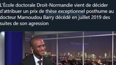 un prix de thèse exceptionnel posthume au docteur Mamoudou Barry