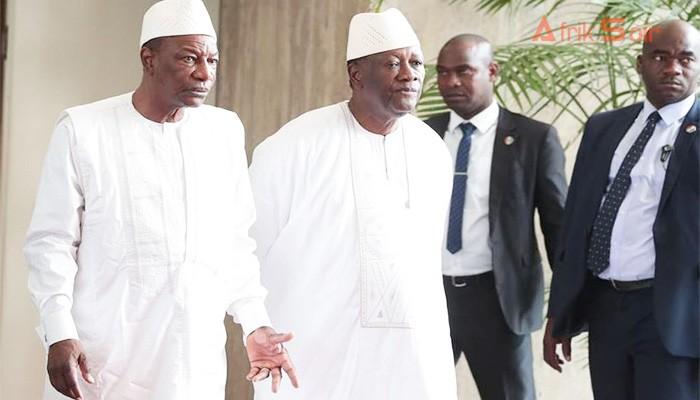 Alpha-Condé-et-Alassane-Ouattara-le-vendredi-26-avril-2019-à-Abidjan