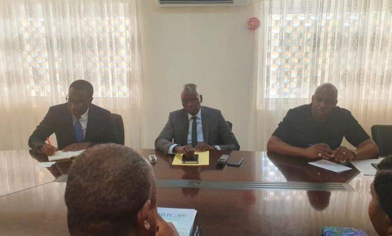 Le Directeur Général du fonds panafricain d'investissement dans les infrastructures reçu par le Ministre de l'Economie et des Finances.