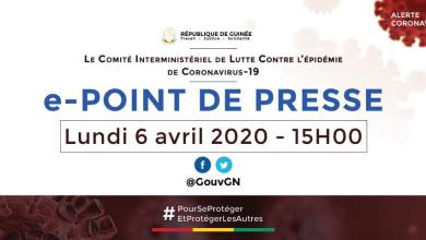 e-point de presse covid19 Guinee