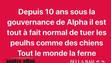 Guinee bella bah sur les tueries de l'axe