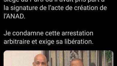 Ismaël Condé, Vice-maire de Matam, membre du BE de l'UFDG a été arrêté ce soir