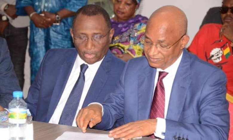 Sidya Touré et Cellou Dalein Diallo