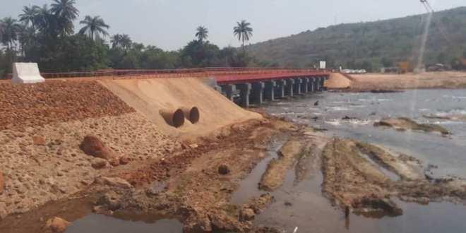 Kindia CBK inauguration du pont sur la rivière de souma long de 65 mètres