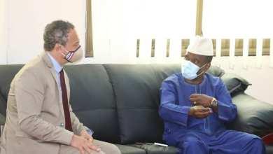 Aboubacar SYLLA a reçu en audience, ce matin , S.E.M Marc Fonbaustier, Ambassadeur de France en Guinée