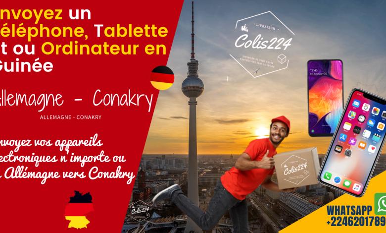 Envoyez un téléphone, tablette, ordinateur en Guinée depuis Allemagne