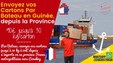 Envoyez vos cartons en Guinée