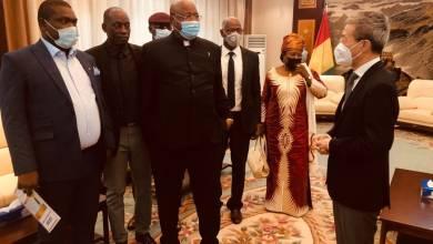 Le chef de file de l'opposition Mamadou Sylla rencontre l'ambassadeur de la Chine en Guinée.
