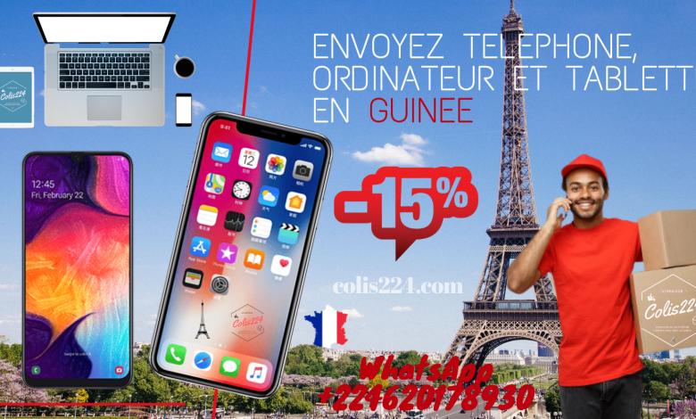 Envoyez vos colis telephone en Guinée