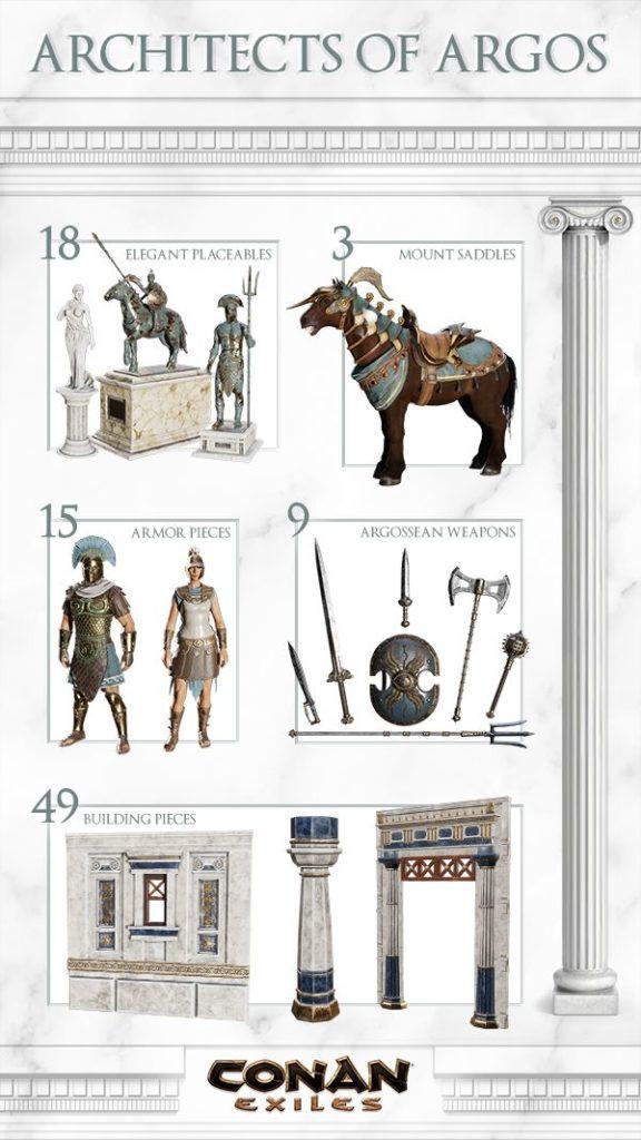 Conan Exiles Pierre De Fer : conan, exiles, pierre, Architectes, D'Argos, Suivants,, Partie, Désormais, Disponibles, Conan, Exiles