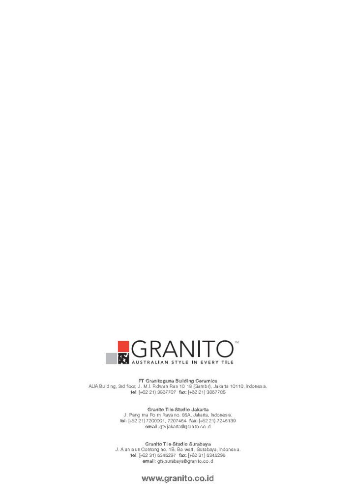 Pt Granitoguna Building Ceramics : granitoguna, building, ceramics, Granito-lookbookjpg_page17, CONARCH, BANGUN, SEJAHTERA