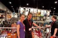 Tara Platt and Yuri Lowenthal at SDCC