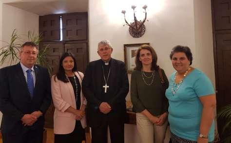 El arzobispo recibe a la nueva junta directiva de CONCAPA Toledo