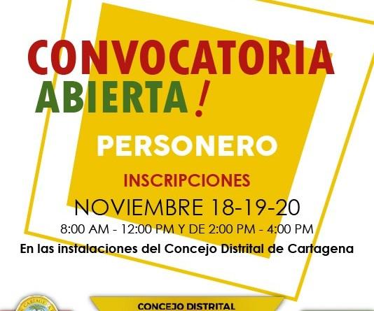 Convocatoria Elección Personero Distrital de Cartagena