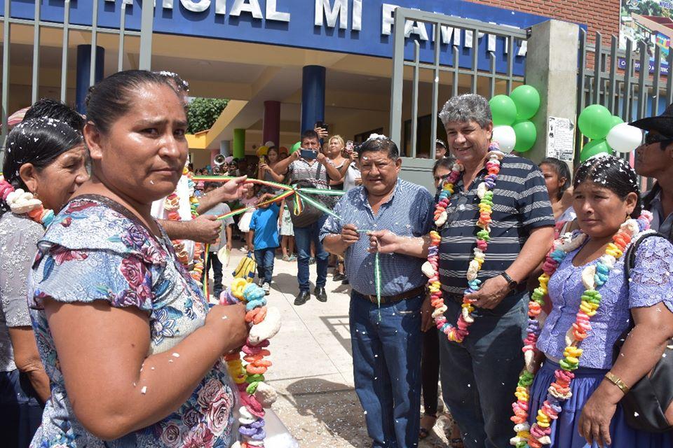 """Montero: Más de 120 niños serán los beneficiados con el nuevo módulo educativo para nivel inicial """"Mi Pampita"""""""
