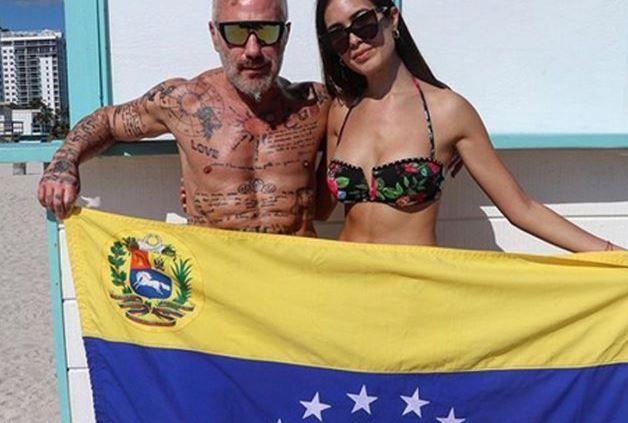5 5 - El HUMILDE regalo de cumpleaños que le dio Gianluca Vacchia su bella novia venezolana (VIDEO) - #Noticias