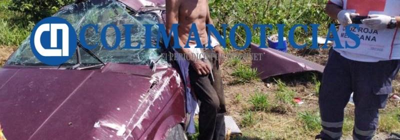 Reportan 2 heridos en volcadura por la carretera libre Manzanillo Armería 2 - Reportan 2 heridos en volcadura por la carretera libre Manzanillo-Armería - #Noticias