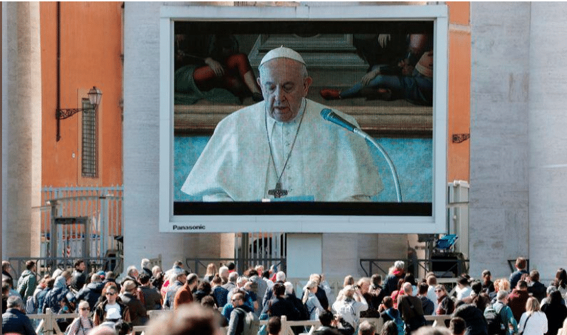 Captura de pantalla 2020 03 11 a las 09.26.14 - Papa Francisco celebra primera audiencia general virtual en medio de cuarentena en Italia - #Noticias