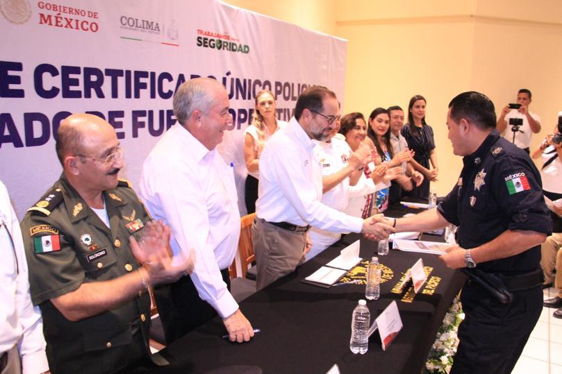 JIPS certificados en seguridad - Colima ha certificado 94% del personal en seguridad: Gobernador - #Noticias