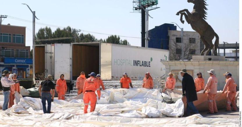 hospital inflable 1045989x1x crop1584215553502.jpg 673822677 - Instalan hospital inflable en Hidalgo - #Noticias